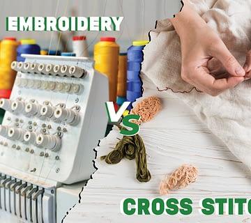 cross stitch vs Digital Embroidery